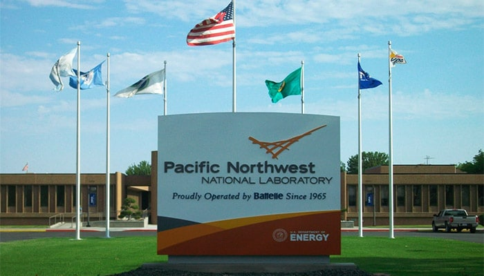 Outdoor sign for Pacific Northwest National Laboratory