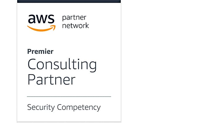 AWS partner network badge, premier consulting services, security competency