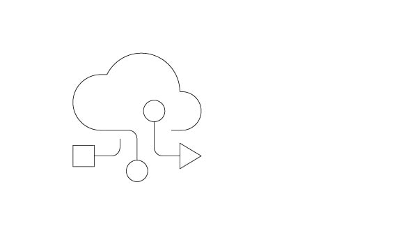 Pictogram of a cloud representing storage resiliency for hybrid cloud