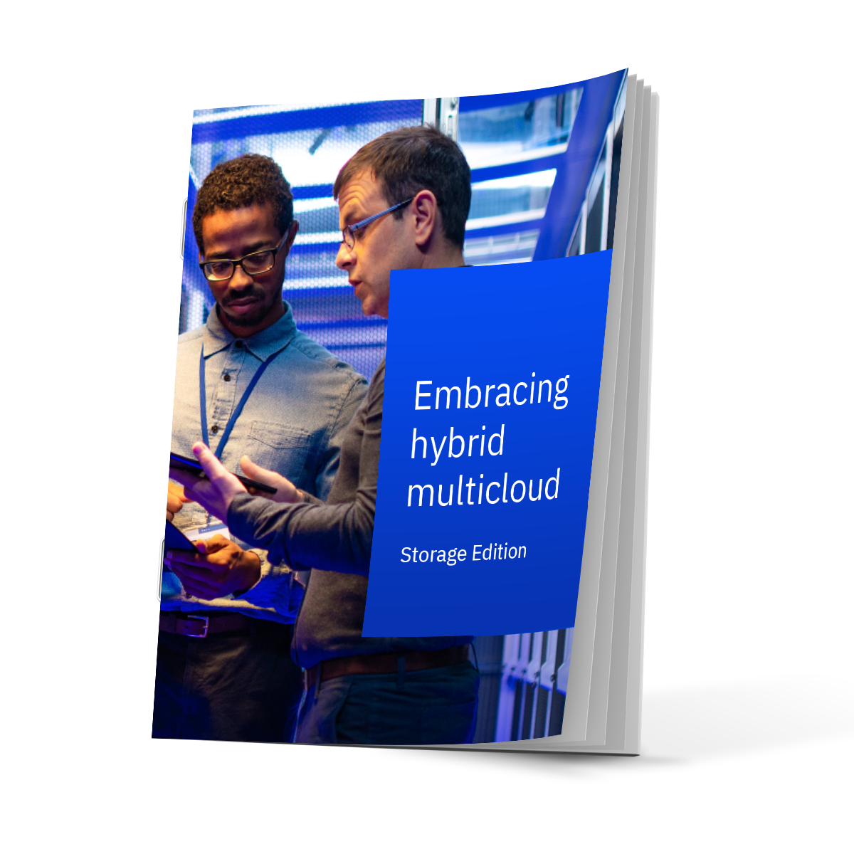 Cover of ebook with 2 men in a server room