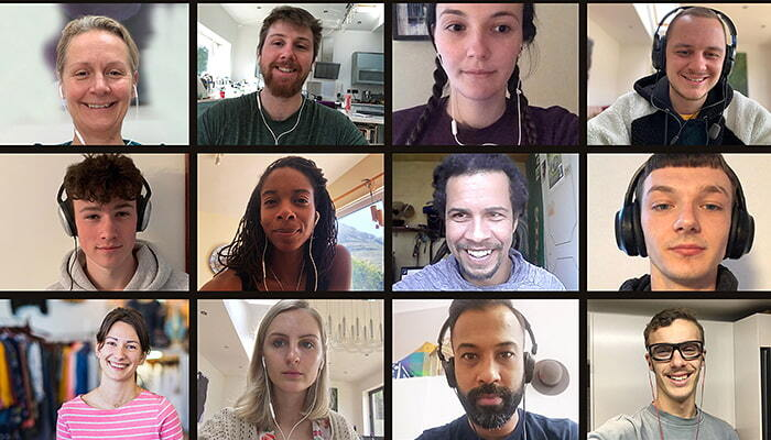 online meeting faces