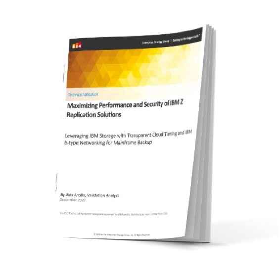 Cover of ESG report leveraging transparent cloud tiering with SAN b-type