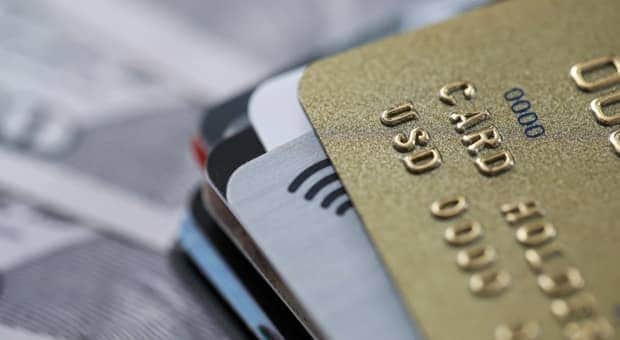 Credit cards symbolizing secure banking