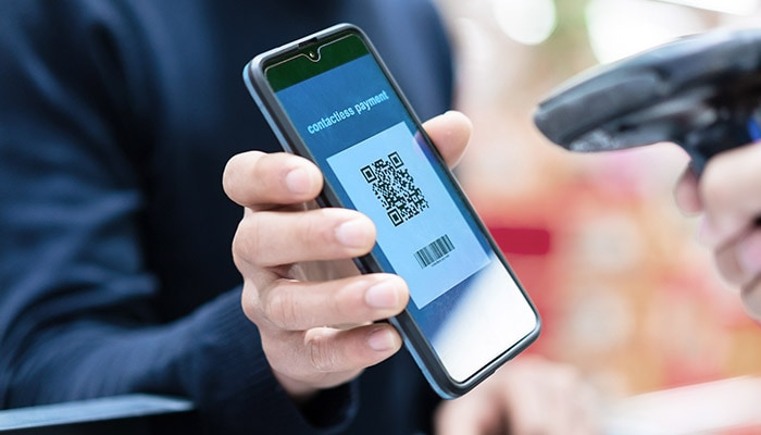 Barcode being scanned off of a smartphone