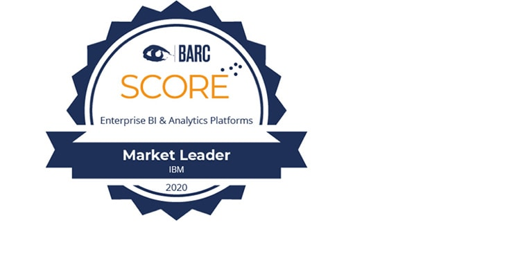 BARC SCORE - Enterprise BI & Analytics Platforms - Market Leader seal