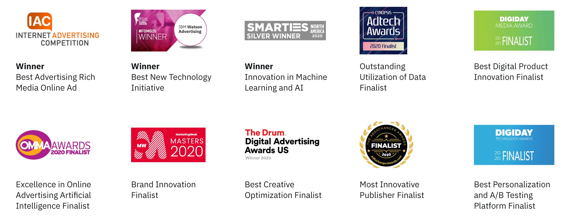ibm watson advertising accelerator awards