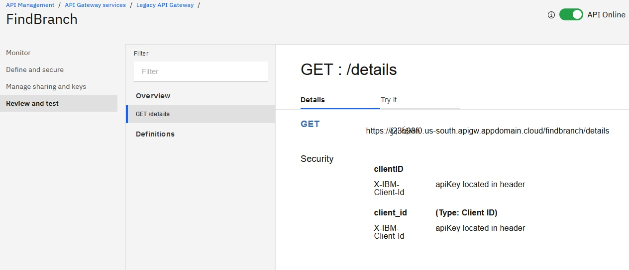 Choose the HTTP verb supported by the backend. In this case: GET /details:
