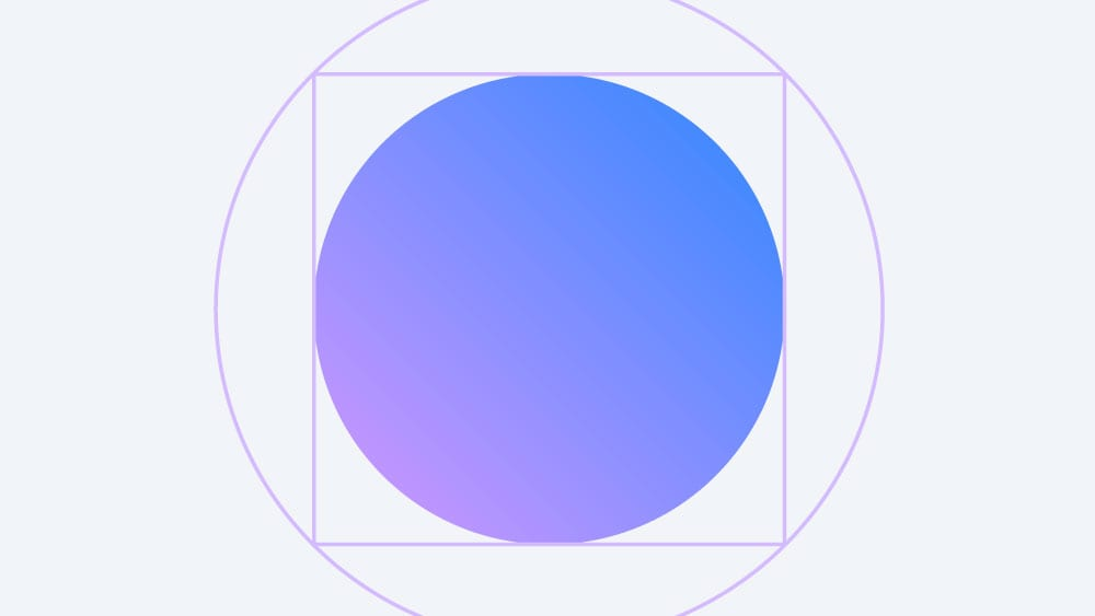 a circle inside a square inside another circle