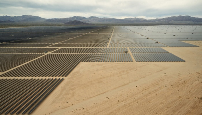 landscape of a solar farming industry