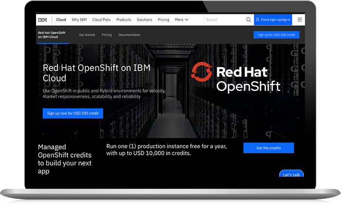Red Hat OpenShift on IBM Cloud