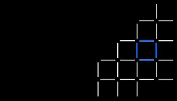 Grid pattern with blue and white squares