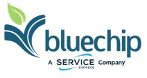 bluechip blue/green logo with transparent background