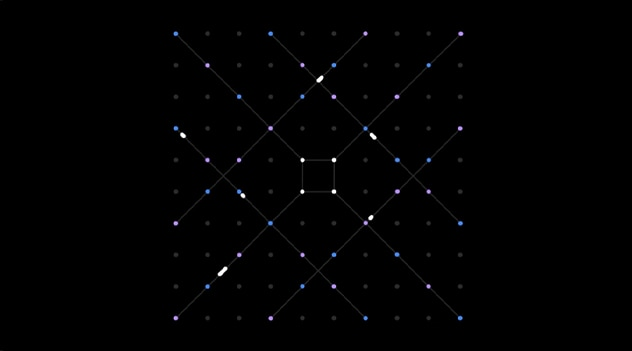 an isometric representation of connecting dots