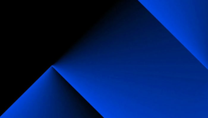 Blue graphic in a black background