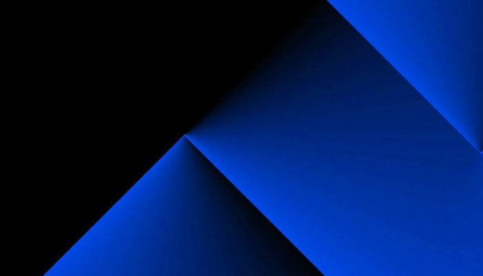 blue triangle in an abstract image