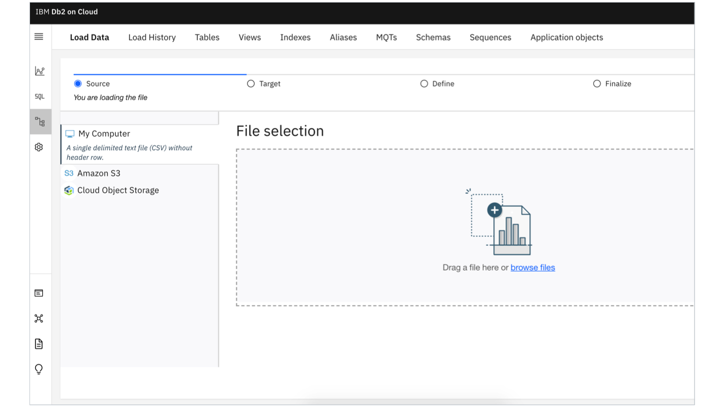 Product screen shot showing how data migrates into the cloud database