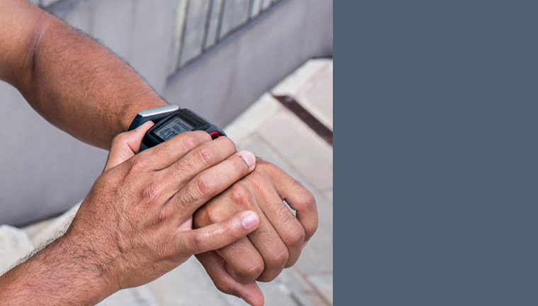 Image of smartwatch on wrist