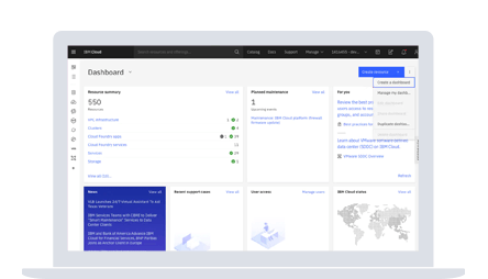 screenshot of the IBM Cloud dashboard