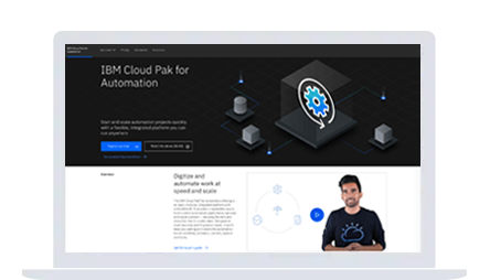 Screenshot of IBM Cloud Pak for Automation