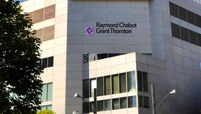 Front view of Raymond Chatbot Grant Thornton office building