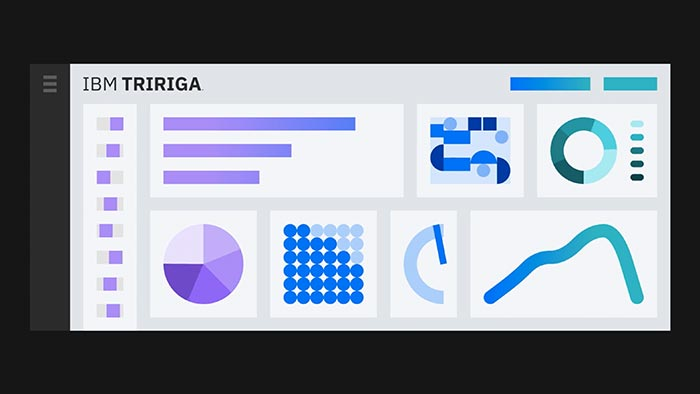 Abstract dashboard representation of IBM TRIRIGA