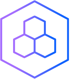 A hexagon with three smaller hexagons inside it