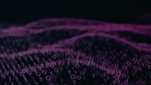 Abstract purple binary code