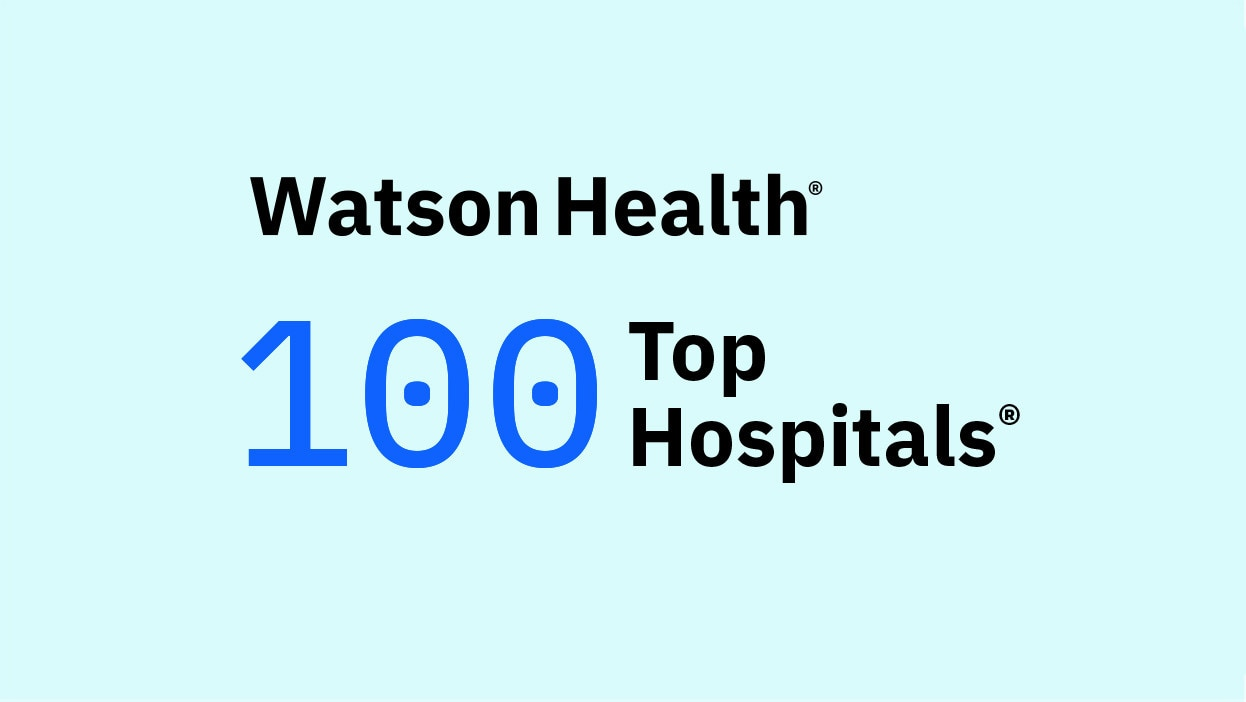 logo of the Watson Health 100 Top Hospitals