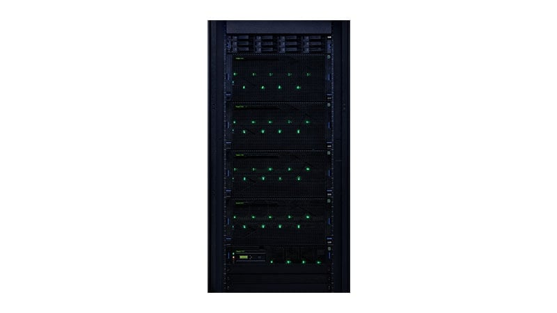 Power E980 in einem Rack