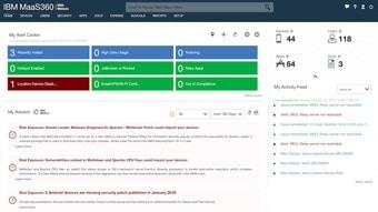 MaaS360 Portal homepage
