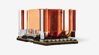 NVIDIA SMX2 GPU module with heat sink