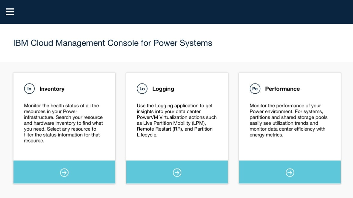 IBM Cloud Management Console features