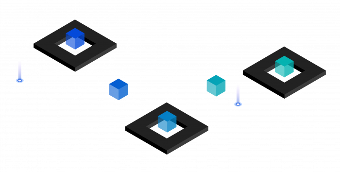 Abstract illustration depicting how Aspera automates workflows