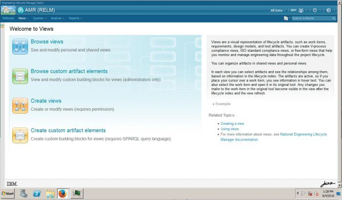 IBM Engineering Lifecycle Optimization software screenshot