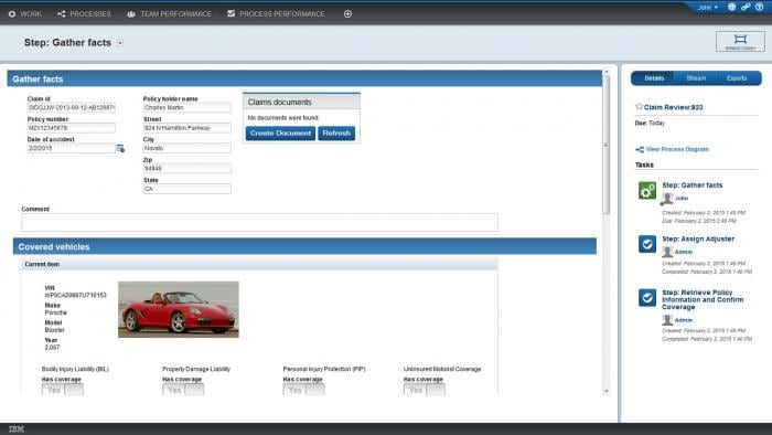 IBM Business Process Manager on Cloud screenshot