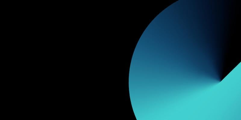 Abstract blue and black background image.