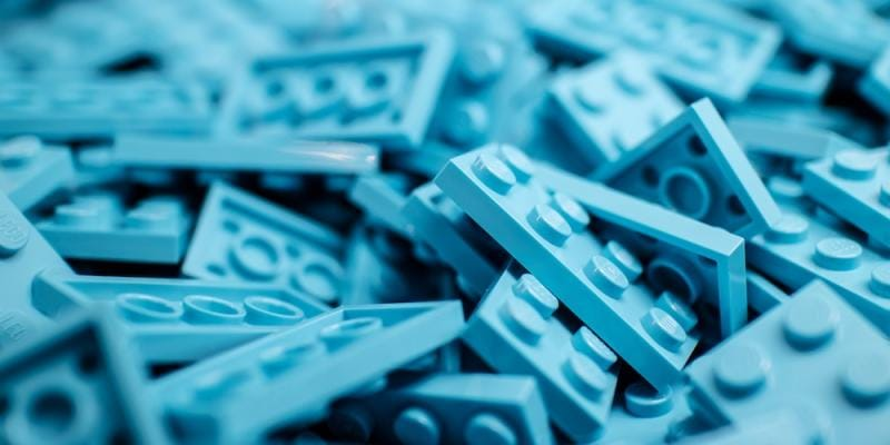 Blue Lego pieces