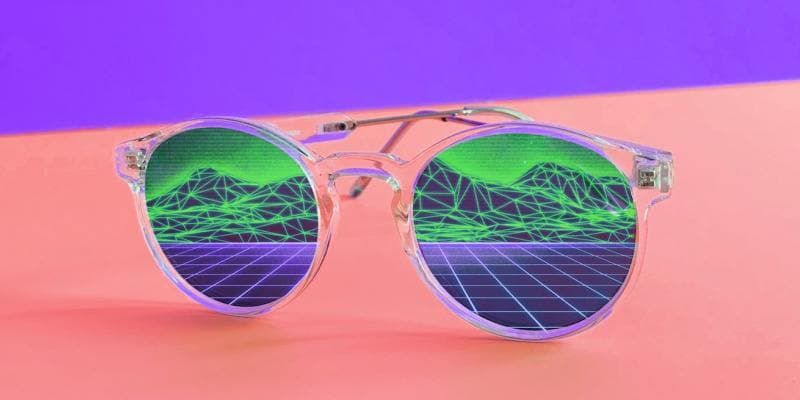 Sunglasses with digital image imposed on lenses