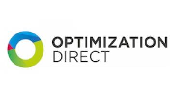 Logotipo gráfico que representa Optimization Direct, una empresa que se ha asociado a IBM para resolver problemas de optimización mediante CPLEX