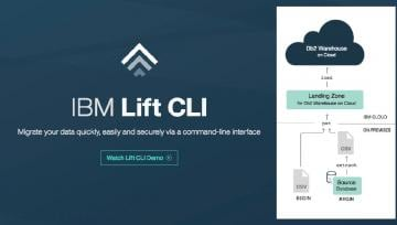 Screenshot of IBM Lift securely migrating database