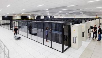 inside a modern data center