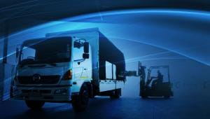 An image of a truck to represent a distribution company who uses IBM Blueworks Live.