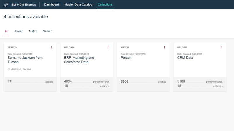 IBM MDM Express - A single, authoritative view of customers from disparate data sources screenshot image