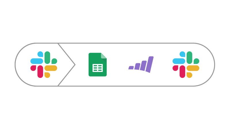 Icon showing connection between Slack and Marketo