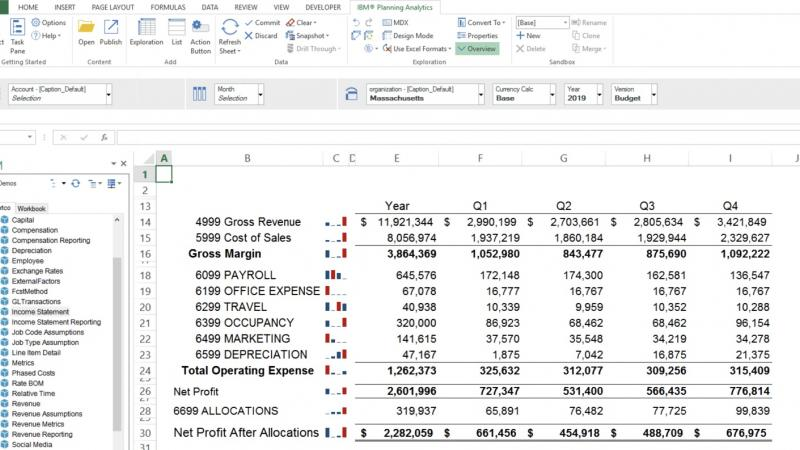 Screenshot of Microsoft Excel integration