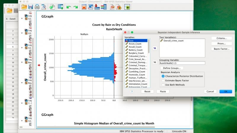 SPSS Statistics screenshot showing multilayer perceptron
