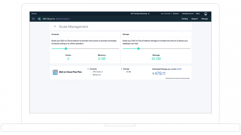 Scale by IBM Db2 on cloud