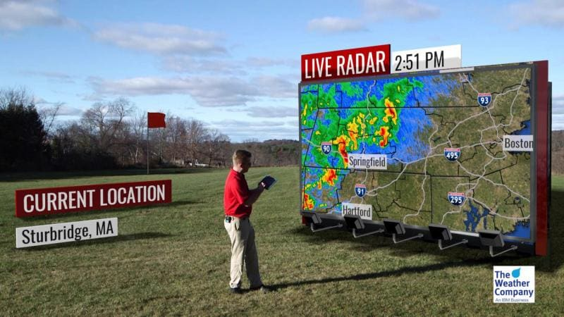 Demonstration of Max Reality storm timing outdoors