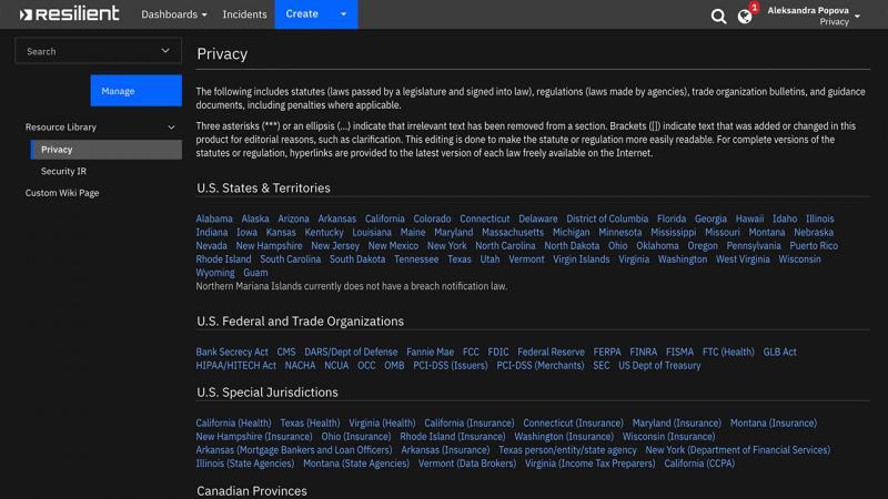 Global privacy regulation knowledge base
