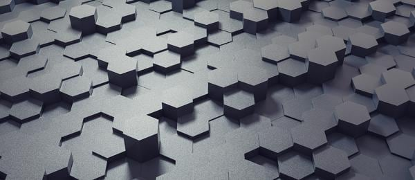 Gray interlocking hexagons